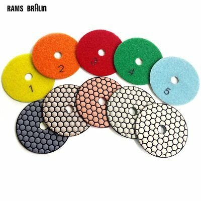 12 pieces 80mm Stone Dry Grinding Disc Marble Polishing Pad + 1 piece Holder …