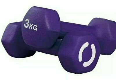 Opti Neoprene Dumbbell Weight Set-2x3kg (Total 6kg) HOME WORKOUT GEAR