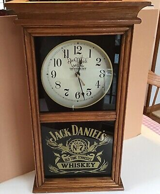 Jack Daniels Old No. 7 Old Time Tennessee Whiskey Oak Wall Clock