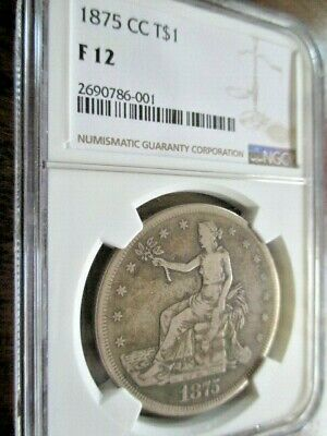 Popular 1875 Cc Carson City Trade Dollar Ngc Fine 12---No Chopmarks!!!
