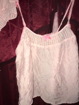 VICTORIAS SECRET Lace Pajama Set Med Cami Top & Shorts Sleep🌷