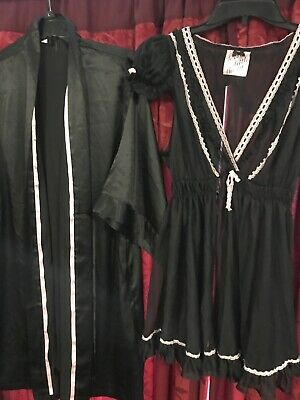 Vtg  Victorias Secret 2 Pcs Satin Robe & Nightie Bathrobe , Chemise Slip Gown🌼