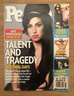 People Magazine August 2011. Amy Winehouse Cover