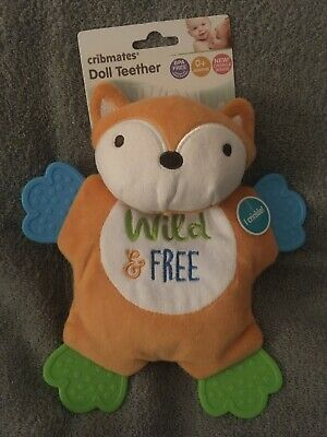 Cribmates Plush Doll Teether Wild & Free Fox Plush Crinkle Toy Lovey