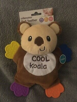Cribmates Bear Plush Doll Teether Cool Koala Plush Crinkle Toy Lovey Brown