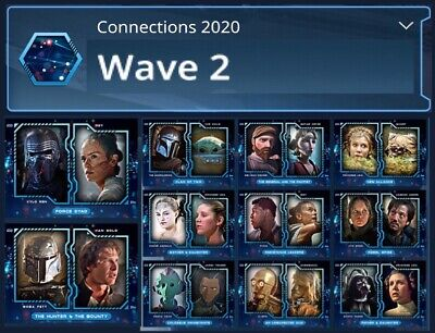 Connections 2020-Wave 2-Blue 11 Card Set-Topps Star Wars Card Trader Digital