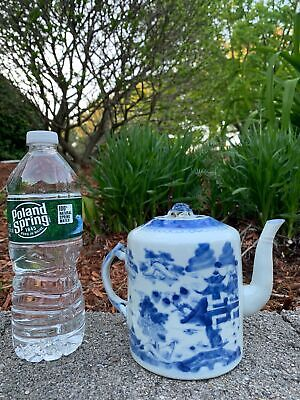 Chinese Republic Period Hand Painted B N W Porcelain Antique Teapot