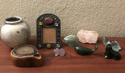 Estate Sale Stone carved animal lot And More!