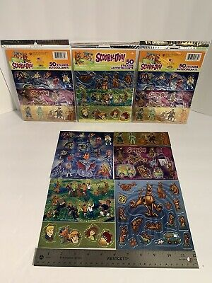 4 Packs Of Scooby-Doo Stickers 50 Packs (200 Stickers)