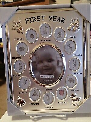 Malden International Designs Baby's First Year Collage Picture Frame - NEW