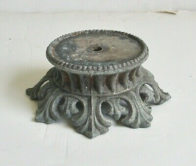 Antique Cast Brass Table Lamp Base Part Ornate Steampunk Victorian Shabby Chic