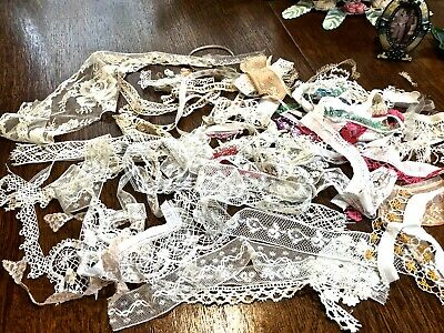 LOT of Antique & Vintage TRIM EDGING for Doll Cloths Small Needle Felted Animals