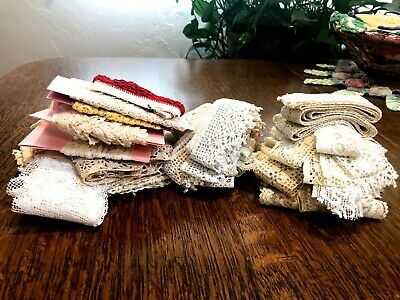 Large LOT of Antique & Vintage TRIM EDGING for Sewing Projects & Embellishments