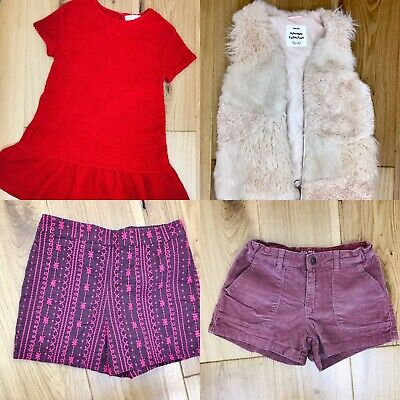 Zara Monsoon Age 9 Smart Girls Bundle Red Pink Shorts Dress Gilet Waistcoat