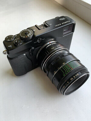 Fujifilm X-Pro1 16.3MP Digital Camera + Helios 44-2 58mm f/2.0 Lens + Extras