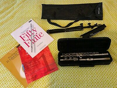 Flute Beginners Sms Academy Good Condition - Music Stand & Books