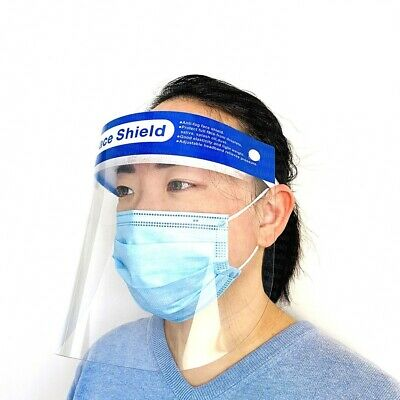 (10 Pcs) Anti-fog Face Shield, Clear, Wide Vision, Covers Full Face, Reusable