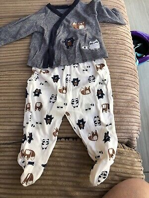 Top & Trousers Animal Set. Size 6-9 Months.