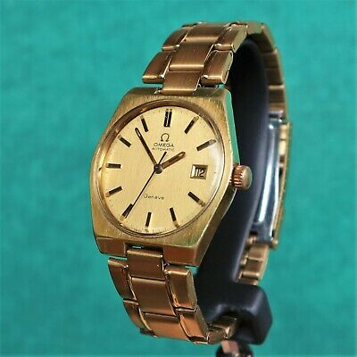 OMEGA GENEVE Automatic Gold Plated Vintage Watch 1481 Reloj Montre Orologio Uhr