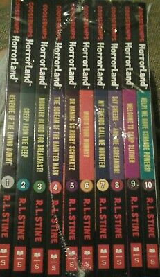 Goosebumps Horrorland Series R L Stine 10 Books  Collection Set Paperback NEW