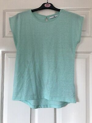 Lovely Girls Mint Green Short Sleeved T-Shirt From Marks & Spencers Age 10-11 Yr