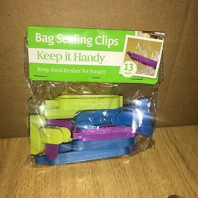 Wholesale Job Lot 48 X Brand New Multi Colour Bag Sealing Clips (13 In A Pack)