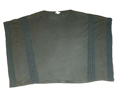 Girl's Black River Island Poncho / Shawl Age 11-12 Years Soft Touch Faux Suede