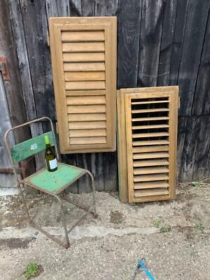 VINTAGE WOODEN SHUTTERS WINDOW  ANTIQUE FRENCH 103 x 96 cm   FREE post