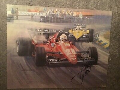 Rene Arnoux Signed Picture