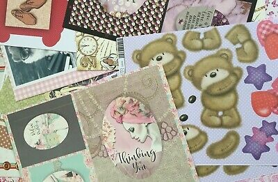 Craft Clear Out Huge Lot of Card Toppers A4 Sheets Men's Ladies Animals x 40