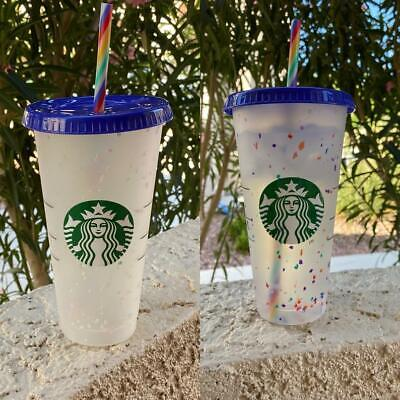 BRAND NEW - Starbucks - Color Changing Confetti Cold Cup - Venti - 2020 Summer