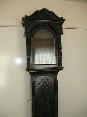 Early 19Th Century Oak  Carved Longcase Clock Case George The Third Period