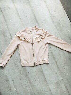 Girls River Island Light Fabric Pink Jacket Age 7-8 Years