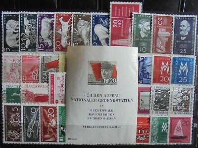 GERMANY (East) DDR 1956-57 Complete Issues 40 + Mini-Sheet MNH