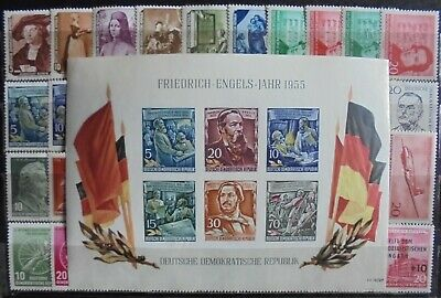 GERMANY (East) DDR 1955-56 Complete Issues 40 + mini-Sheet MNH