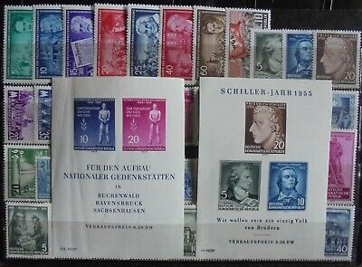 GERMANY (East) DDR 1955 Complete Issues 40 + 2 mini-Sheets MNH