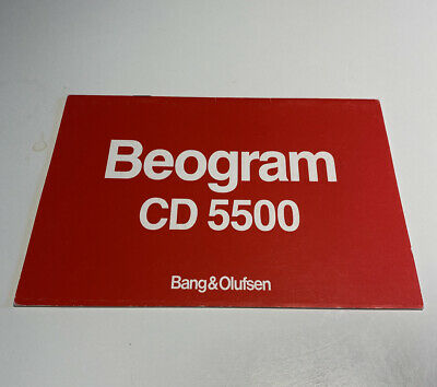 Bang & Olufsen Beogram CD 5500 User Manual - Rare B&O Original Instructions