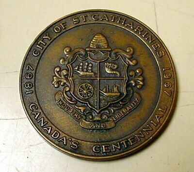 """Vintage 1967 Brass Token """"City of St Catherines"""" Canada's Centennial 1867/1967"""
