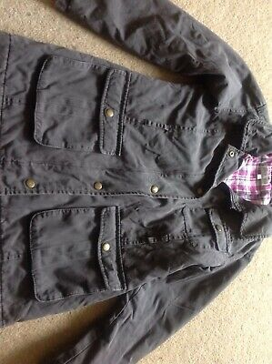 M&S Indigo Girls Lined Coat. Barbour Style. Age 9-10 Years