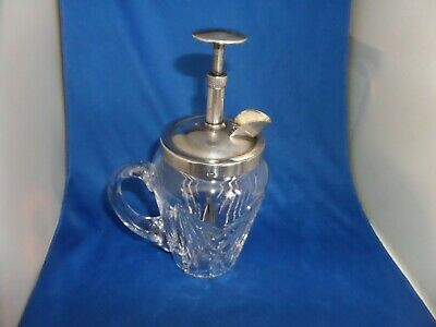 """Lovely Patent """" Rapid """" Mix Cocktail Shaker C.1934 Silver Plate & Crystal"""