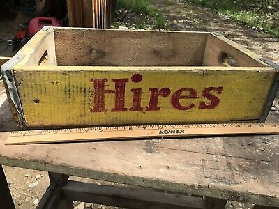 Vintage Hires Root Beer & Orange Crush Wood Crate Buffalo Ny