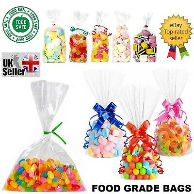 Clear Cellophane Cello Display Bags Large Small Sweets Candy Cake Pop Wrap Party