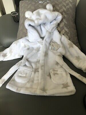 Tiny Tatty Teddy Baby Dressing Gown Age 3-6 Months