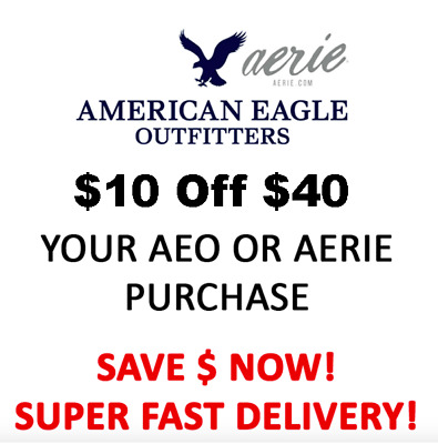 American Eagle Coupon $10 OFF $40 : Online + WORKS ON SALE!! EXP 6/30/20