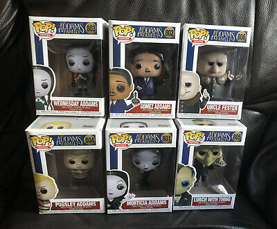Funko Pop! 2019 The Addams Family Fester,morticia,Wednesday,gomez,lurch,pugsley