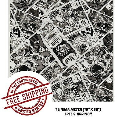 """Hydrographic Water Transfer Hydro Dipping Dip Film 1M 19"""" x 38"""" Comic Bomb 2"""
