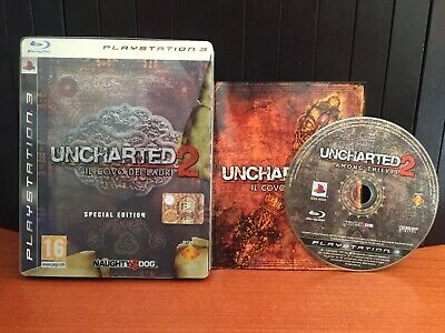 Uncharted 2 Il Covo Dei Ladri Special Edition Steelbook Pal Ita Ps3 Completo
