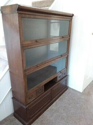 Antique bookcase display cabinet & Draws
