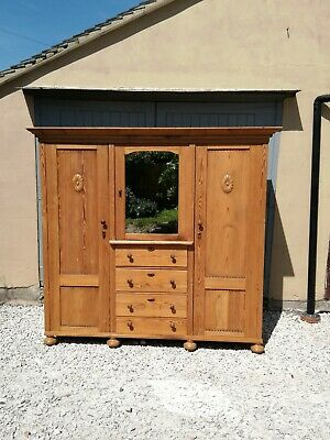 Antique Pine Knock Down Combination Wardrobe Delivery/Assembly available