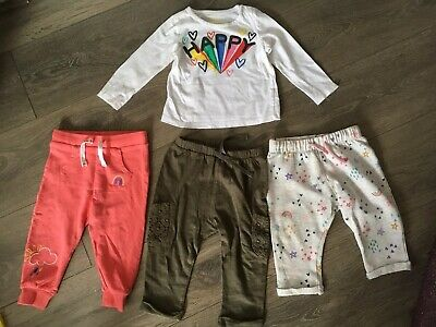 Baby Girl Top Trousers Bundle 9-12 Months